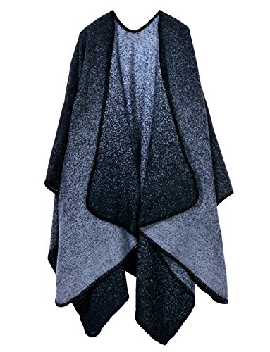Dressvip Indienne Femme Poncho Cape Manteau sans Manche Fourrure Lapin Chaud Hiver Automne 130*150cm 13 #