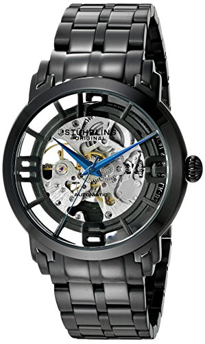 Stuhrling Original Man Winchester 44 Elite Dress Legacy Orologio da Polso, Display Analogico, Uomo, Cinturino in Resina, Nero