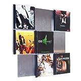 Design CD-Wand / CD Wanddisplay / CD Wandhalter / CD Halter - CD-Wall Square 3x3 für 9CDs zur sichtbaren Präsentation Ihrer Lieblings Cover an der Wand