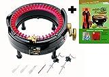 Addi Express Kingsize Strickmaschine und Aufziehhilfe statt Strickbuch