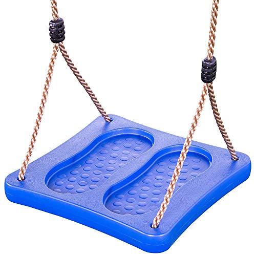 Unbekannt Stehschaukel/Fußschaukel aus Kunststoff, blau
