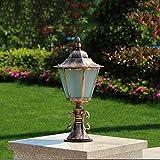 Outdoor Aluminium Weg Lampe Poller Lampe Zaun Post Licht Garten Spalte Säule Licht Poller Super Helle Licht Lampe E27 (Color : Bronze)