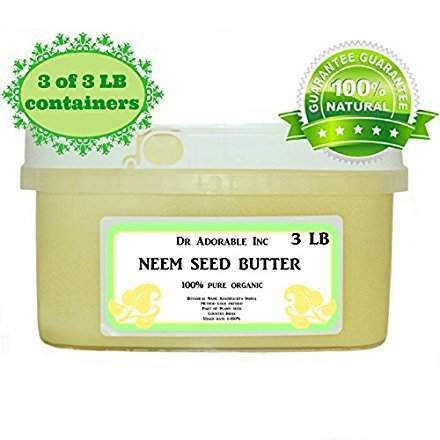 Neem Seed Butter Pure Organic Cold Pressed Unrefined Skin Recovery Relief Healing 9 lb
