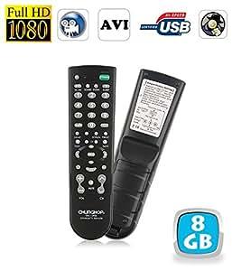 Télécommande universelle téléviseur caméra espion Full HD 1080P 8 Go