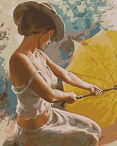 Obella Peinture par numéros Kits issu de la gamme de Lonely Femme Sexy 50x 40cm issu de la gamme Peinture par numéros numériques, peinture à l'huile, sans cadre