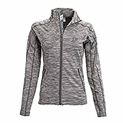 NHL Anaheim Ducks Women's Atlantis Shear Script Full Zip, Small, Cool Grey/Charcoal
