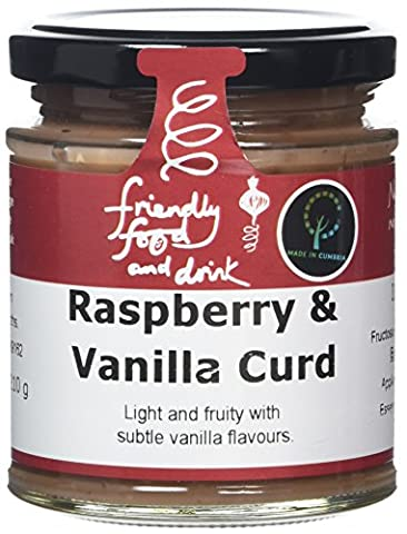 Friendly Food and Drink Raspberry and Vanilla Curd 210 g (Pack of 2)