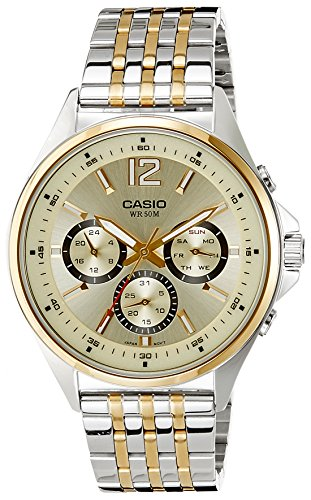 Casio (MTP-E303SG-9AVDF|A960) Enticer White Dial Men's Analog Watch image