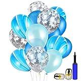 Vegkey Party Luftballons, Latex Luftballons mit Ballonpumpe, 40 Stück Party Latexballons Dekorative Ballons Bunte Ballons Partyballon, Farbige Ballons Hochzeit Luftballons Geburtstag Dekorationen