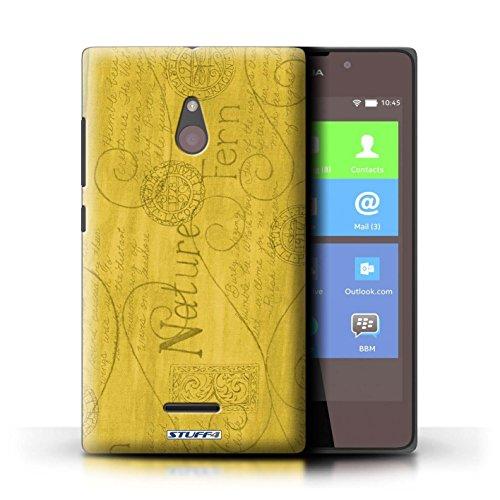 Kobalt® Imprimé Etui / Coque pour Nokia XL / Violet / Orange conception / Série Motif Nature Jaune