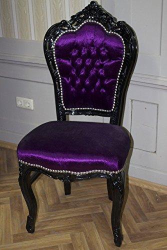 Antico sedia in stile barocco colore viola velluto - La viola mobili ...
