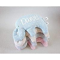 """Saquito térmico de semillas""""elefante"""", para bebé y personalizado. Nuestro saco térmico es ideal para aliviar los cólicos, calentar la cuna y relajar a tu bebé."""
