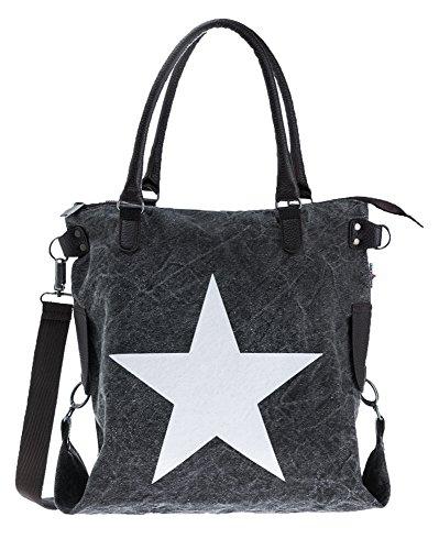 Bags4Less Damen F3151 Umhängetasche, 20x40x50 cm Washed-Schwarz