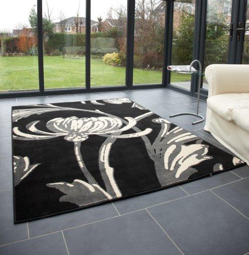 Modern Large Rug In Black Grey 120 X 160 Cm 4 53 Carpet