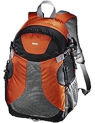 Hama Kamerarucksack für DSLR Kamera und Ausrüstung (Outdoor Fotorucksack, 20 L, herausnehmbares Kamerafach, Tablet-/Notebookfach, Regenschutz, Stativhalterung, handgepäcktauglich) orange/schwarz