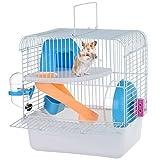 Petacc Hamsterkäfig tragbar Haustier-kleine Tiere Pets Hundekäfig mit waterer, mit Schiebetür und, Rad
