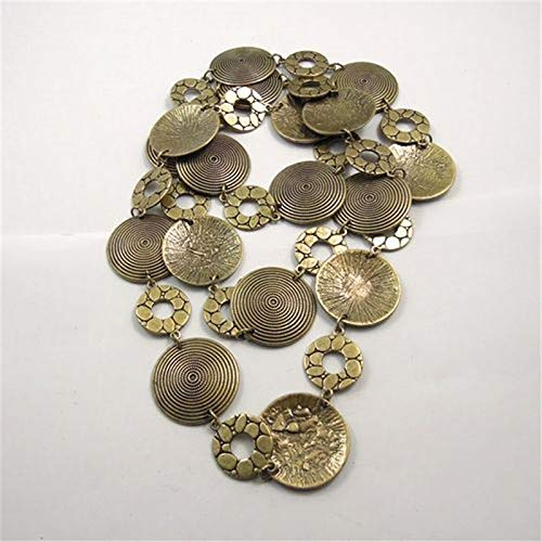 VAWAA Top Frauen Vintage Bronze Chain Necklace Tone Retro Round Circle Armbrust Charms 30 * 30 * 2mm Schmuckbeete