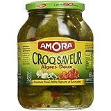 Amora Cornichons Croq'Saveur Aigres-Doux 440 g - Lot de 3