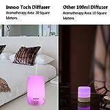 Diffusore di Aromi 150ml InnooCare Diffusore di Oli Essenziali Vaporizzatore - Umidificatore LED a 7 Colori con Timer Nebbia Fredda per Yoga, Spa, ecc. (150ml diffusore)
