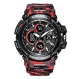 Neueste Männer Camo Digital Sport Military Chronograph Uhr mit Kalender Mmännlich Digitaluhren Rot
