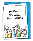 XXL-Karte zum Abschied, zur Verabschiedung, zur Rente, zum Ruhestand inkl. Umschlag (DIN A4)