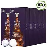 BIO Kaffeekapseln von My-CoffeeCup | Kompatibel mit Nespresso®*-Maschinen | 100% kompostierbare Kapseln ohne Alu (Kaffee Lungo No. 2 Bellissimo, 100 Kapseln)
