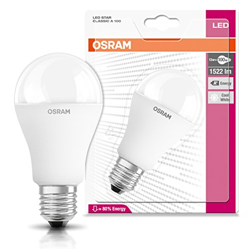 osram led star classic a in kolbenform mit e27 sockel nicht dimmbar ersetzt 100 watt matt. Black Bedroom Furniture Sets. Home Design Ideas