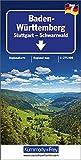 Baden-Württemberg 1 : 275.000 mit touristischen Informationen und Index, wasserfest (Kümmerly+Frey Reisekarten) - Kümmerly + Frey