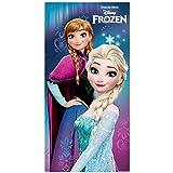 Asciugamano Frozen Disney, con immagine di Elsa e Anna, in microfibra
