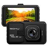 Dashcam hd AutoKamera iGOKU Dashcam GPS Car Camera G-Sensor Autokameras Fahrtenschreiber 3.0' LCD Full HD Autokamera Infrarotfunktion 1080P DVR mit 120° Weitwinkelobjektiv Bewegungserkennung Parkmonitor 24h-Aufnahme Nachtsicht und G-Sensor TF (maximale Unterstützung 32GB)