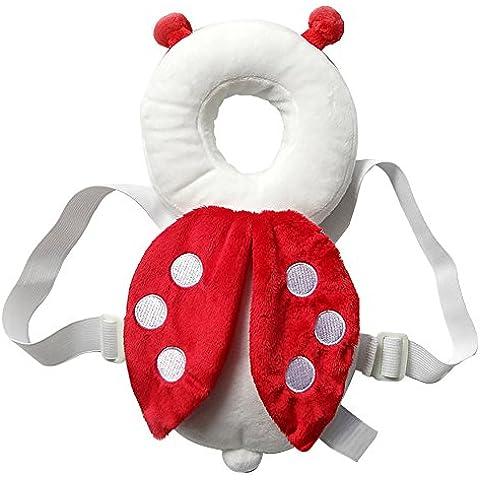 Almohada bebé ajustable de seguridad infantil protección para la cabeza del bebé arnés de la almohadilla del cuello Por Webeauty (mariquita)
