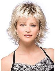 Photo Pal 32cm Perruque Blonde Courte Femme Cheveux Synthétiques