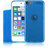 Kolay Gel Silicone Case/Screen Protector/Sock for iPod Touch 6G 6th Gen Generation - Blue