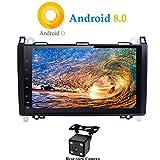 XISEDO Android 8.0 Autoradio In-dash 9 Zoll Car Radio 8-Core RAM 4G ROM 32G Autonavigation Car Radio mit 1024*600 Touch Screen für Mercedes-Benz A-W169, B-W245, Viano, Vito, Sprinter Unterstützt Lenkradkontrolle, RDS (mit Rückfahrkamera)