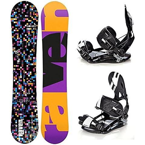 Snowboard Raven Grid Black + Attacchi Raven