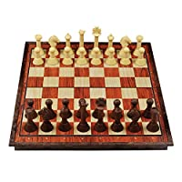Schachspiel-Magnetisch-Schachbrett-Einklappbar-fr-Kinder-ab-6-Jahren TONZE Schachspiel Magnetisch Schachbrett Einklappbar für Kinder ab 6 Jahren -