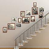 JLRQY Bilderrahmen Wand Set Treppen Collage Holz Bilderrahmen Dekorative Gemälde Für Artwork Familie Korridor Gang, Sets Von 13,A