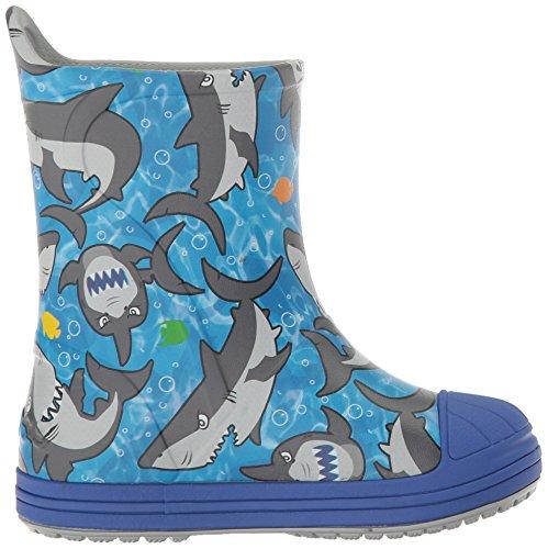 crocs Unisex-Kinder Bmpitdorybtk Gummistiefel Blau (Cerulean Blue Multi)