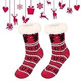 Fixget Calzini pantofola, pantofola birichino calzini per le donne ragazze calde Soft antiScivolo inverno pantofola indoor calze letto pantofole