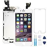AceScreen pour iPhone 6 Écran de Remplacement Blanc 4,7 LCD Retina Display 3D Tactile Digitizer Complet Kit, avec Capteur de Proximité, Parleur, Front Camera, Protecteurd'écran, D'outils