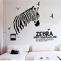 ufengke Zebra Moda Personalizzata A Strisce In Bianco e Nero Adesivi Murali, Camera da Letto Soggiorno Adesivi da Parete Removibili/Stickers Murali/Decorazione Murale