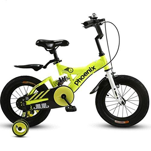 Unbekannt Great Faltendes Fahrrad der Kinder 14/16/18 Zoll-Jungen-Radfahrenmädchen 3-12 jähriges Baby-Kind-Gebirgsfahrrad (Energy A++) (Farbe : C, größe : 16 inches)