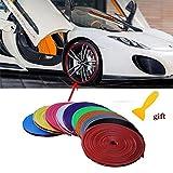 Gaosheng 5 Meter Auto Zierleiste Chrom Zierleisten Trim Innenleiste -flexiblem Innenraum Dekorative Streifen Line DIY Blau
