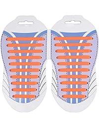 Young   Ming No Tie Lacci per Scarpe Sportive senza nodo Lacci per bambini  e adulti Multicolore Impermeabile Silicone elastico Sneaker… 41ba111dff4