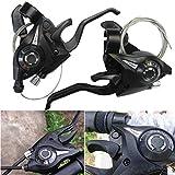 GEOPONICS 1 Paar BIKIGHT 3x7 21Speed MTB-Fahrrad-Radfahren TriggerShifter mit Inner Shift-Kabel