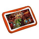 Padgene 7 Zoll Kinder Tablet PC 1G RAM 8G ROM Speicher Android Quad Core 1.2 GHz bilige Tablet für Kids mit Spezialangebot (Orange)