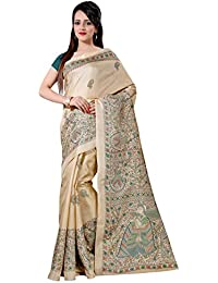 Mrinalika Fashion Cotton Silk Saree (Silk Sarees - Mdb8404-D_Beige)