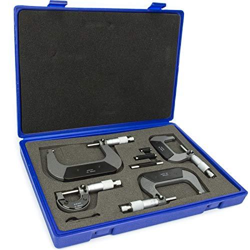 Mikrometer Satz 4-tlg Bügelmessschrauben Justierschlüssel FT00100