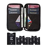 Reisebrieftasche & Familien Reisepasshalter mit RFID Abschirmung - Reisedokumententasche