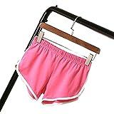 ILOVEDIY Pantaloncini Sportivi Donna Skinny Spiaggia Pantaloncini Hot Pants Yoga (Rosa, M)